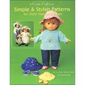 "Simple & Stylish Patterns For Dolls' Hats and Shoes- 8"",14"" & 18"