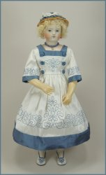 Rhapsody in Bleu Embroidered Huret Dress Kit