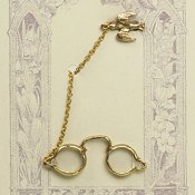 Bird Pin with Spectacles on Chain