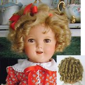 Shirley Temple Mohair Wig for Compo Dolls