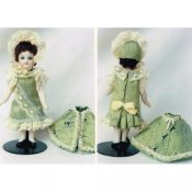 "4"" All Bisque Doll Costume Ensemble"