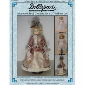 "Afternoon Stroll Costume Pattern For A 12"" French Fashion Doll"