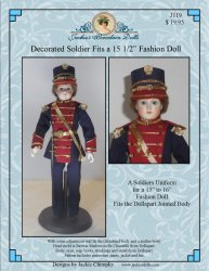 Soldier Uniform for Dollspart Jointed Body