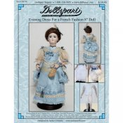 "Evening Dress Pattern for an 8"" French Fashion Doll"