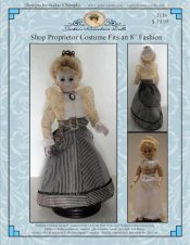 "Shop Proprietor Costume Pattern for 8"" Dolls"