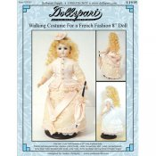 "Walking Costume Pattern for an 8"" French Fashion Doll"