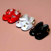 Top Quality Vinyl Shoes with Buckle and Bow