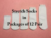 Stretch Socks - Dozen Lots