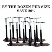 BOX OF 12 - Deluxe Doll Stands in Black - Save 20%